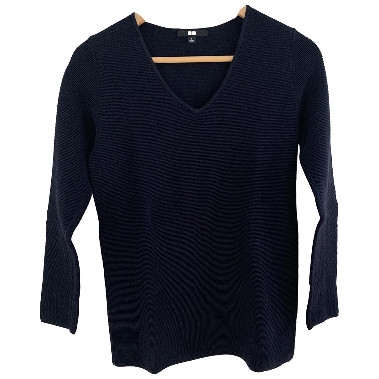 Uniqlo - Pull   pour femme en coton - marine