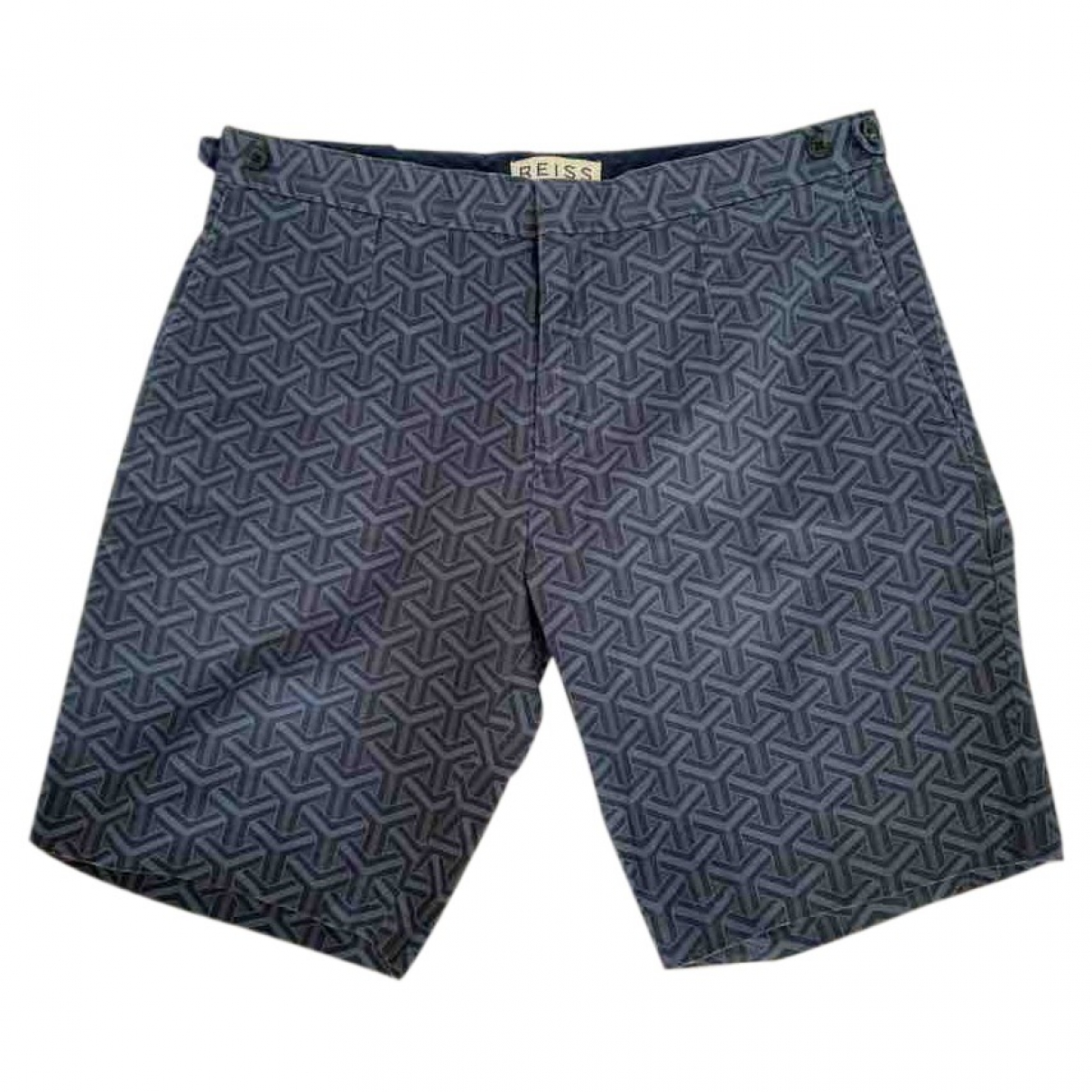 Reiss \N Shorts in  Blau Baumwolle