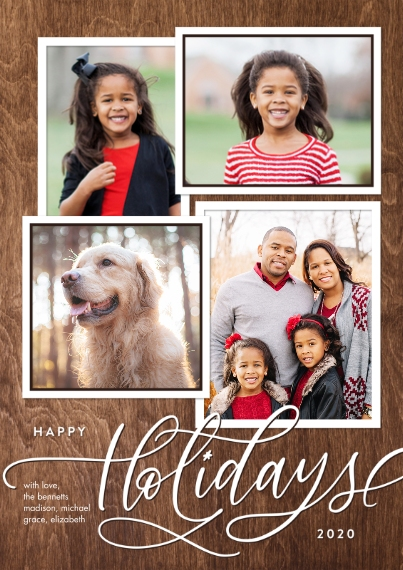 Christmas Photo Cards 5x7 Cards, Standard Cardstock 85lb, Card & Stationery -2020 Holiday Gold Script Memories by Tumbalina