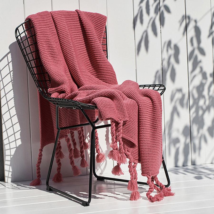 Acrylic Pure Color Simple Leisure Woolen Blanket