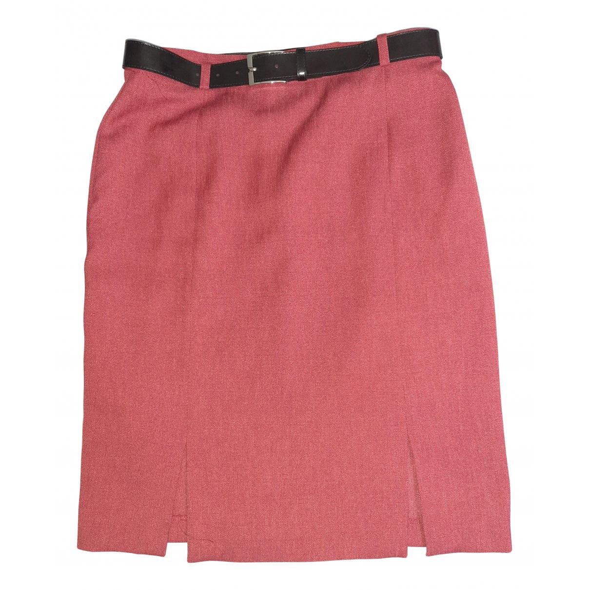 Non Signé / Unsigned N Burgundy skirt for Women 42 FR