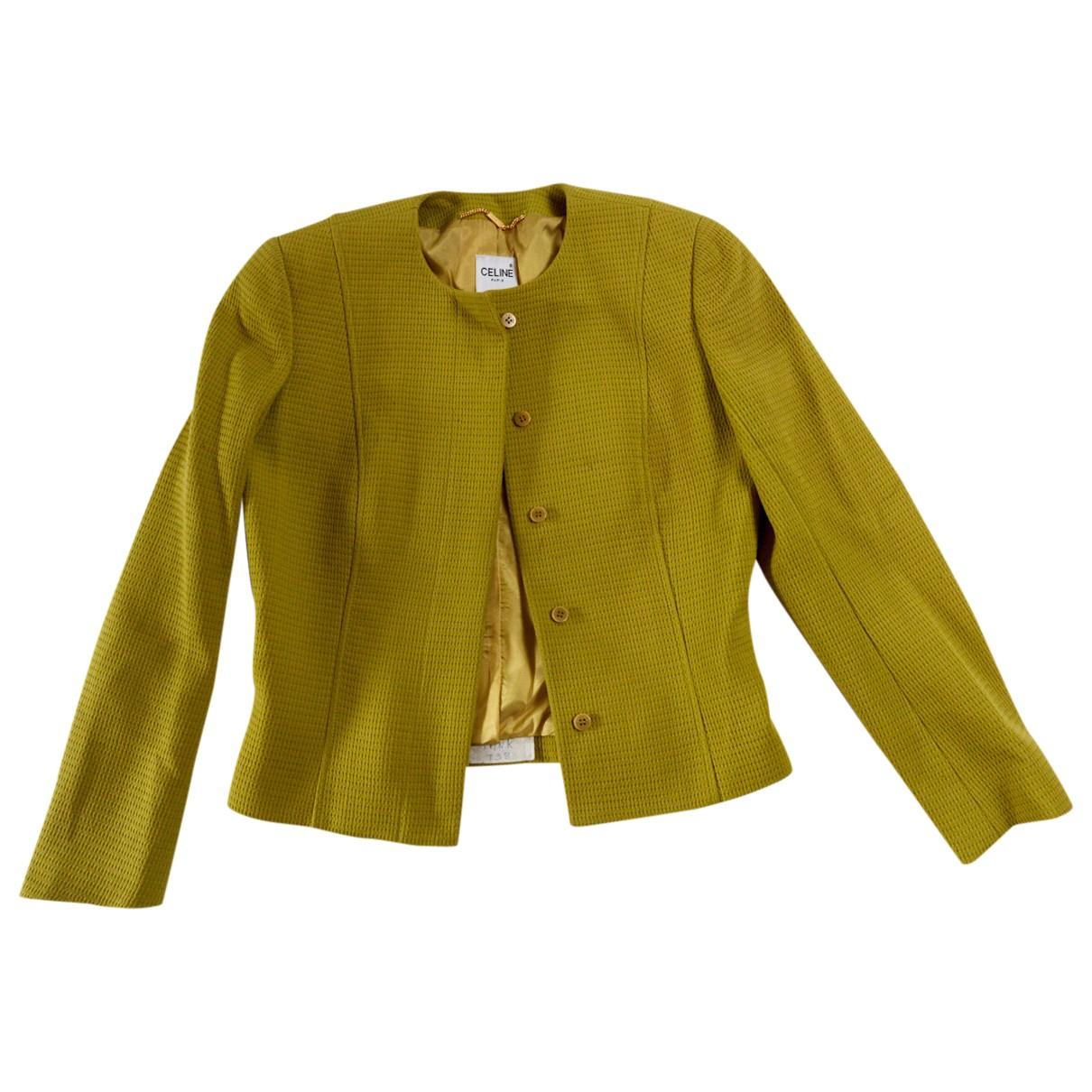 Celine \N Green jacket for Women 38 FR