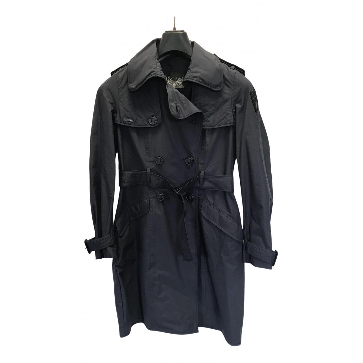 Nobis - Manteau   pour femme en coton - marine