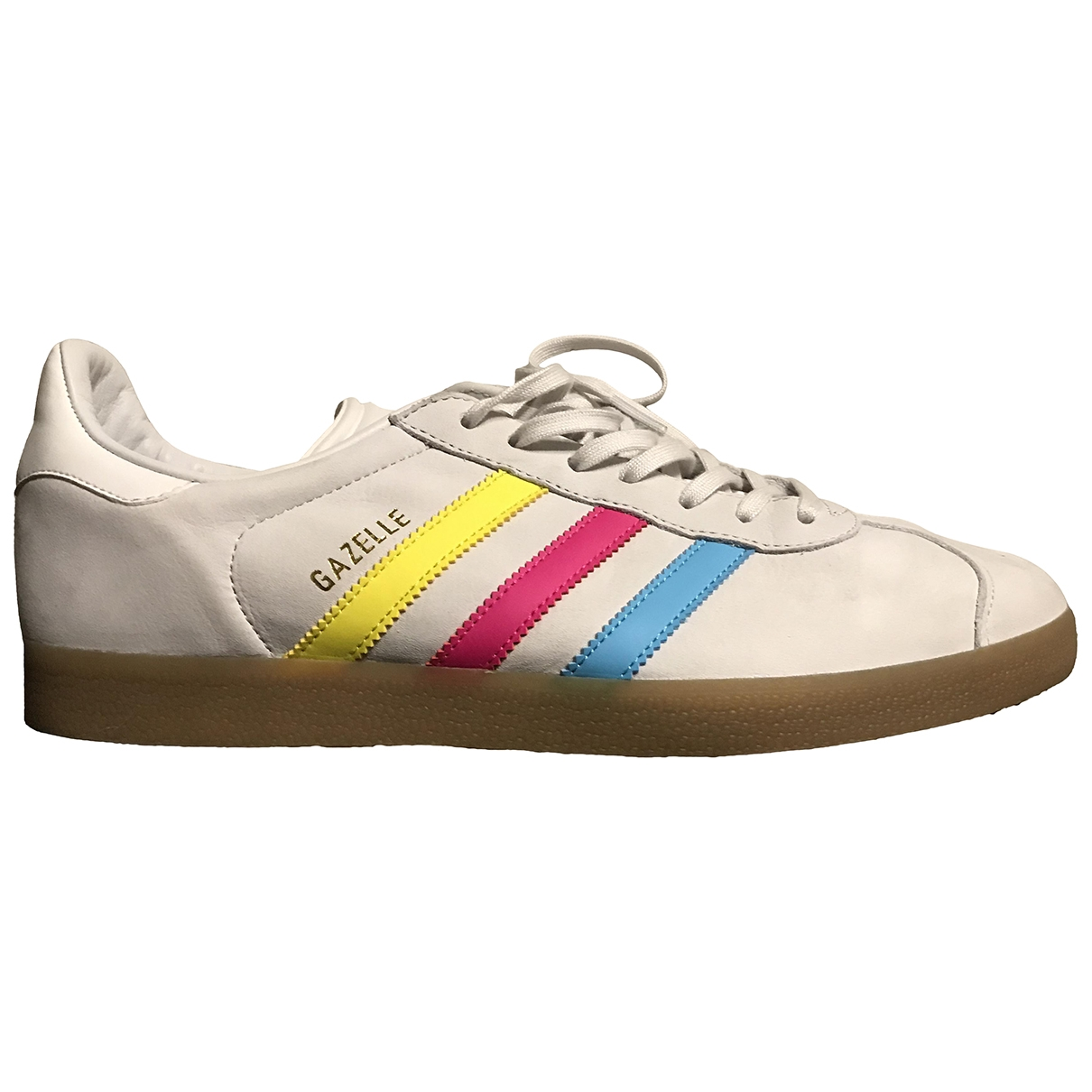 Adidas Gazelle Ecru Leather Trainers for Men 11 US