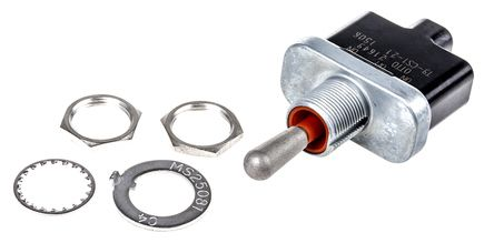 Otto SPST Toggle Switch, Momentary, IP68S, Panel Mount