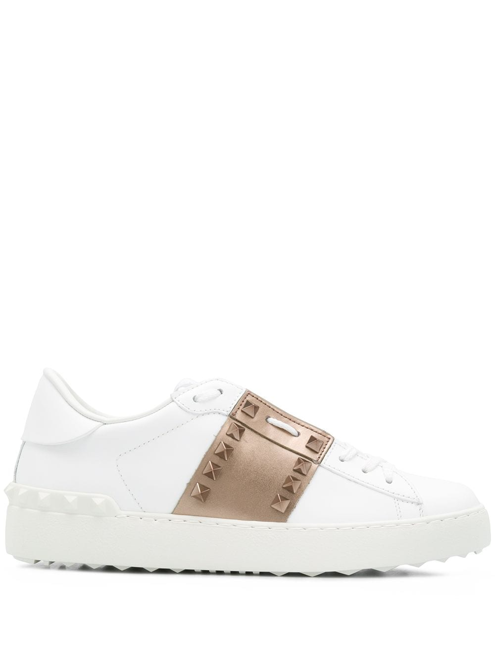 Rockstud Untitled Leather Sneakers