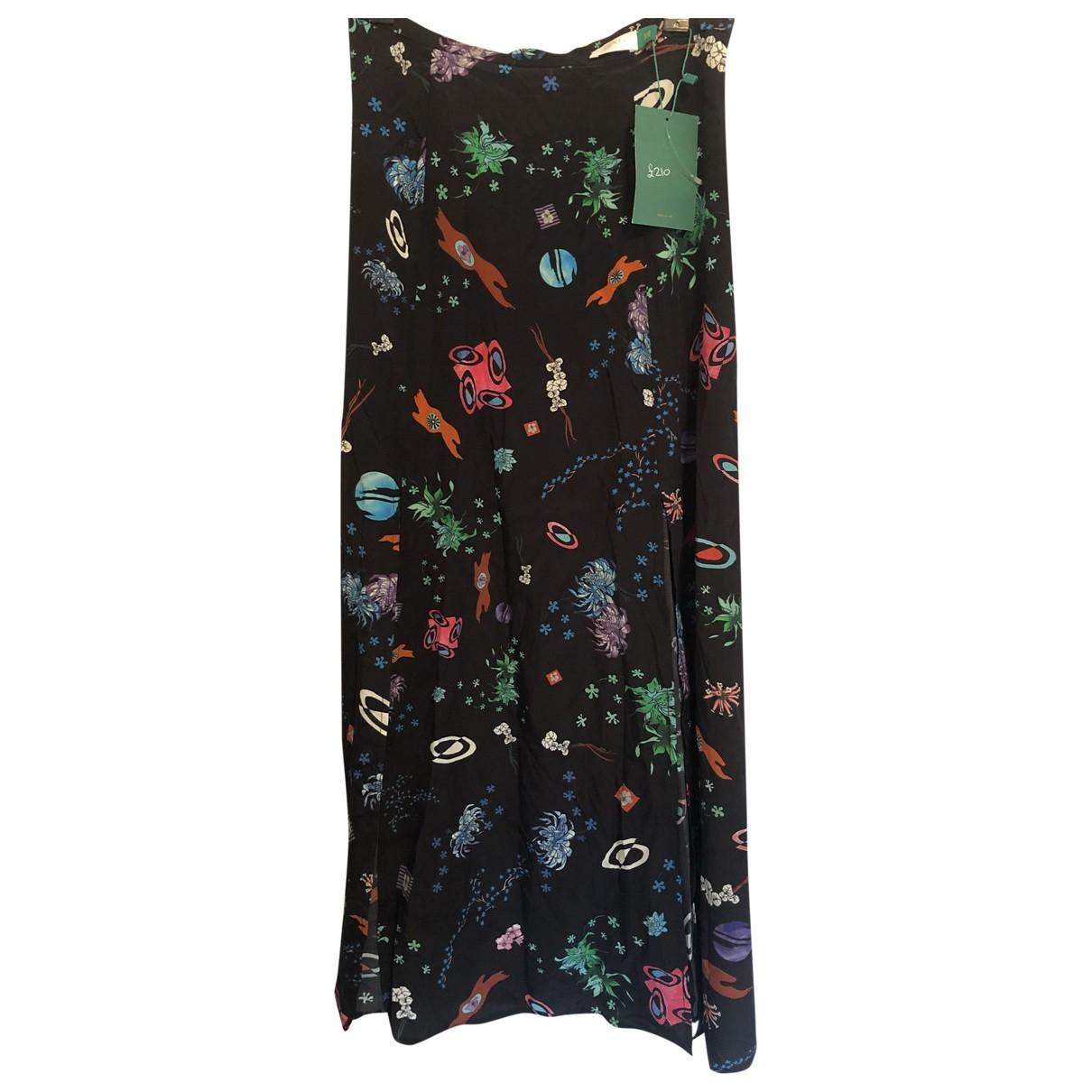 Rixo - Jupe   pour femme en soie - noir