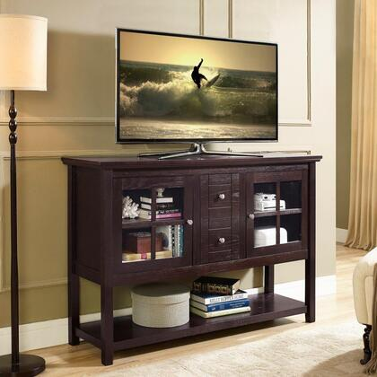 W52C4CTES 52 Wood Console Table TV Stand -