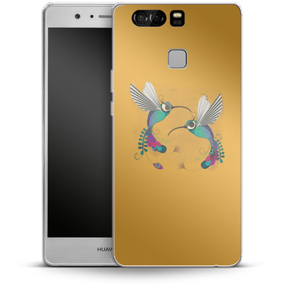 Huawei P9 Silikon Handyhuelle - Hummingbirds von Victoria Topping