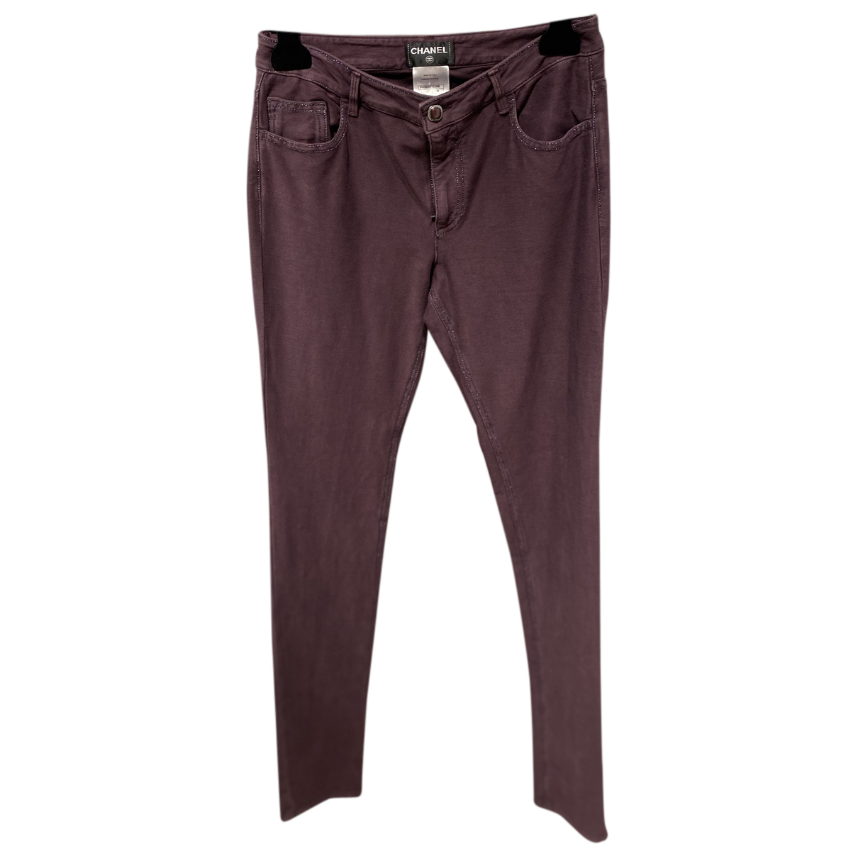 Chanel N Purple Cotton Trousers for Women 38 FR