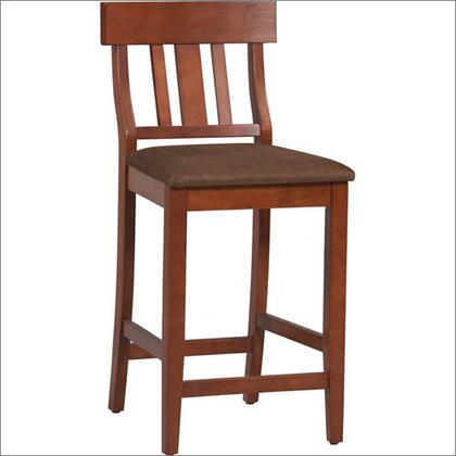 Torino Collection 01849DKCHY-01-KD-U Bar Height Stool with Contemporary Style  Bentwood Frame and Microfiber Upholstery in Brown