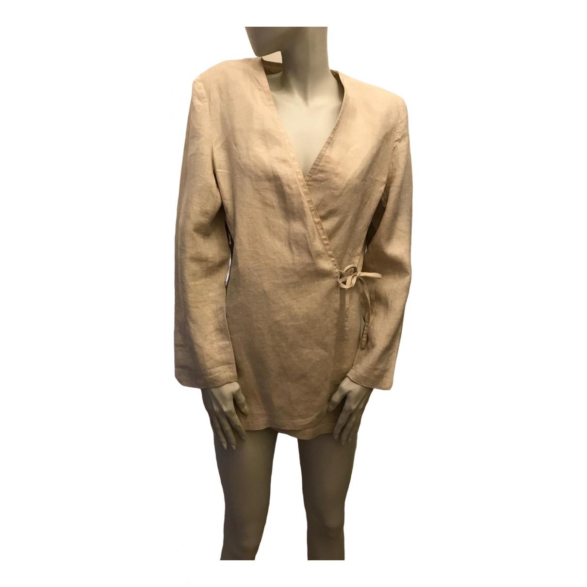 Zapa \N Ecru Linen jacket for Women 46 FR