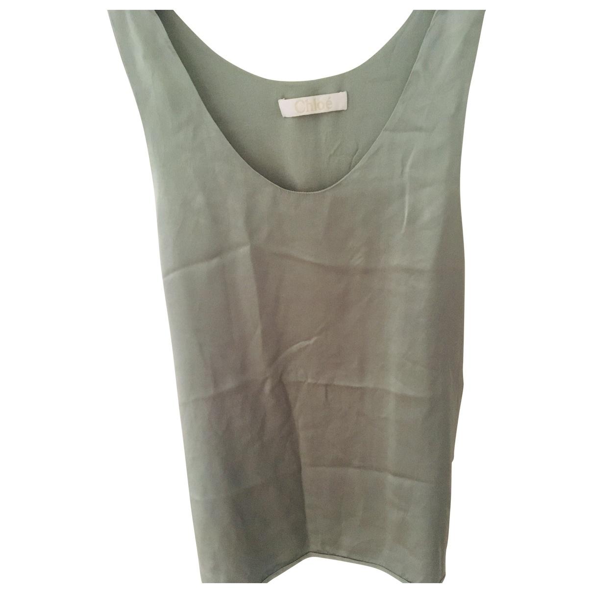 Chloé \N Grey Silk  top for Women 36 FR