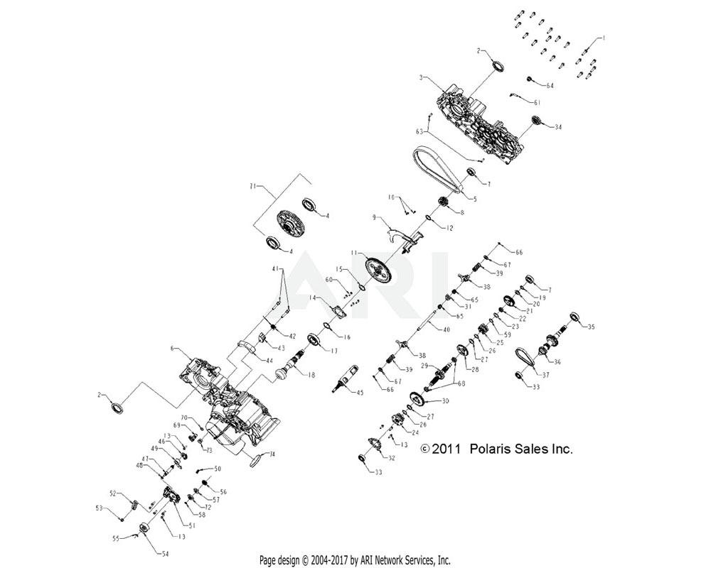 Polaris OEM 3235265 GEARCASE, MAIN, RH, MACH