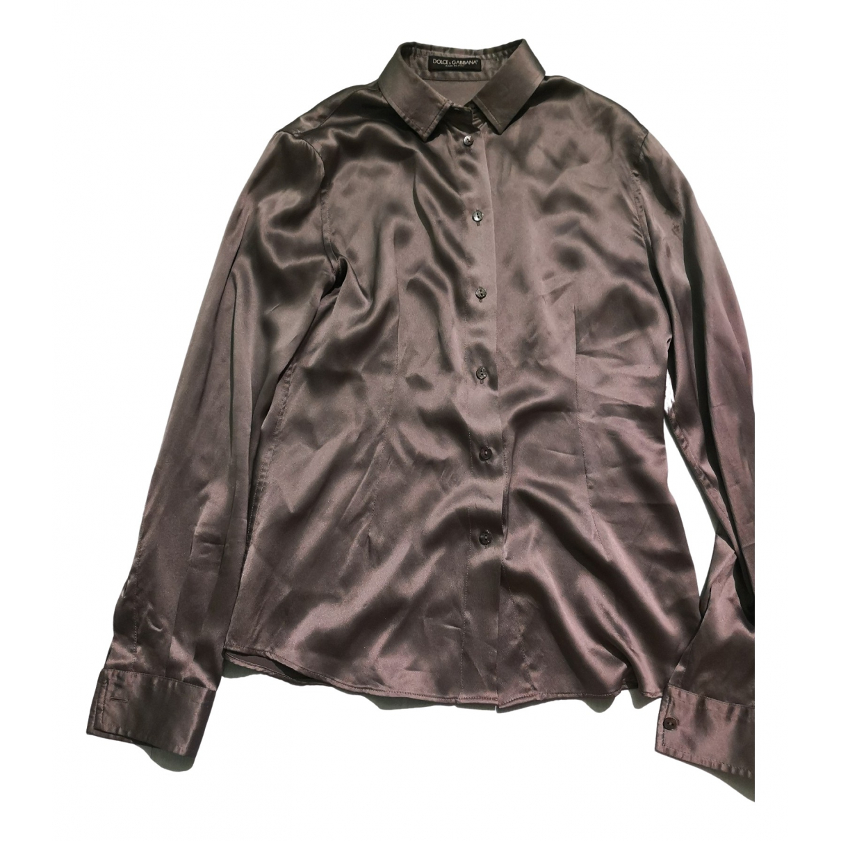 Dolce & Gabbana - Top   pour femme en soie - gris