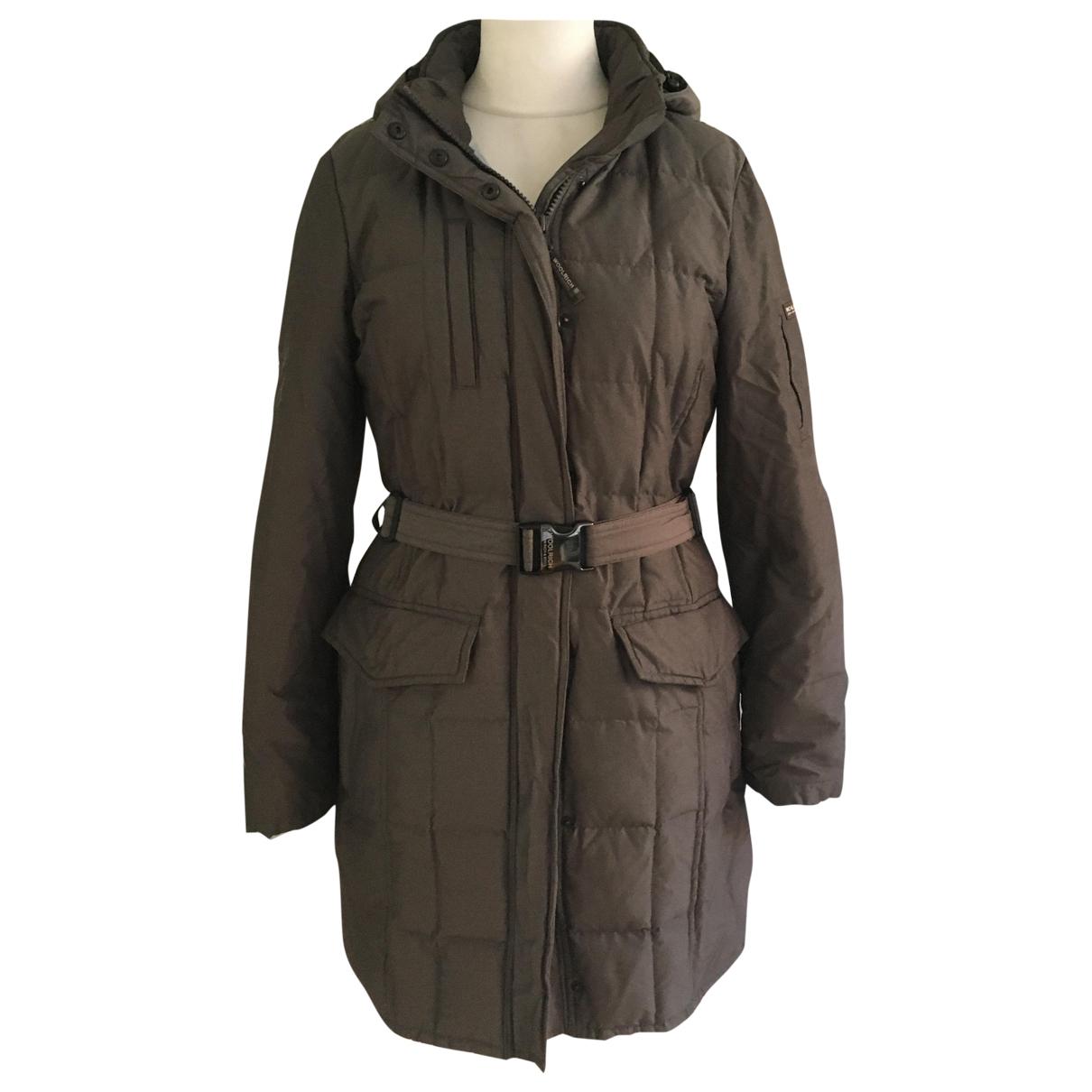 Woolrich - Manteau   pour femme en coton - gris