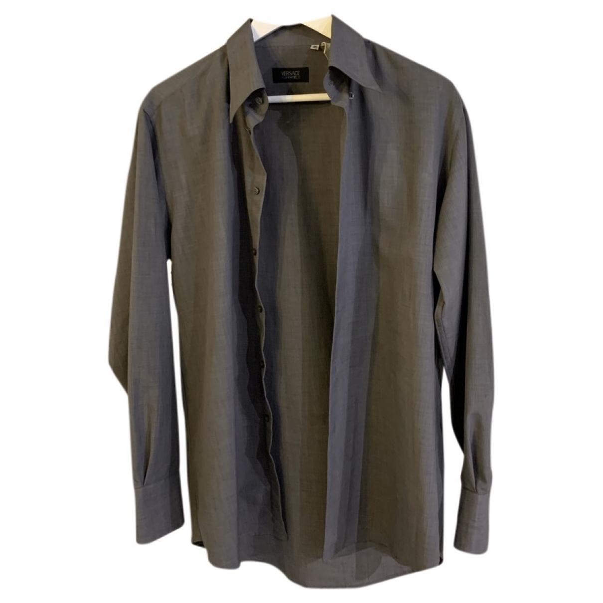 Versace - Chemises   pour homme en coton - gris