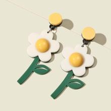 Ohrringe mit Blumen Dekor