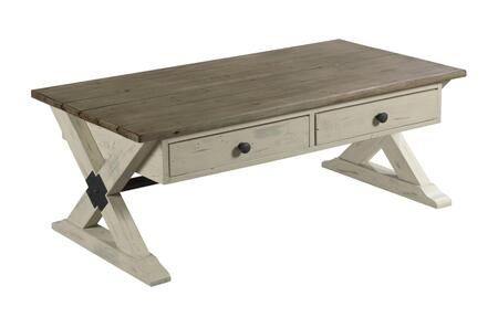 Reclamation Place Collection 523-910W TRESTLE RECTANGULAR COCKTAIL in Reclaimed
