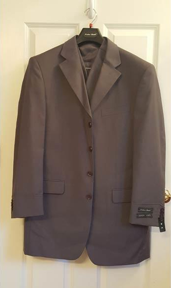 4 Button Vested Suit With Split Back Steve Harvey Style Charcoal Grey