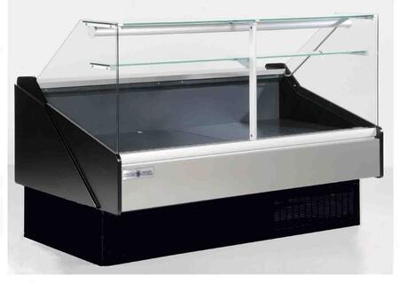 KPMFG80R Flat Glass Deli Case with 3253 Cooling BTU  Tilt Out Flat Tempered Front Glass  Rear Tempered Sliding Doors  in