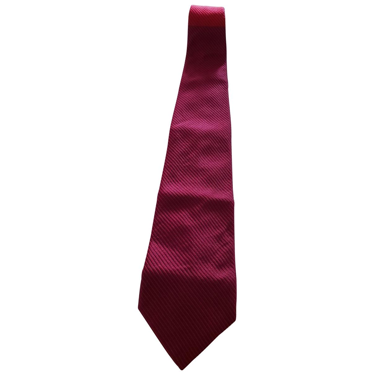 Azzaro \N Krawatten in  Bordeauxrot Seide
