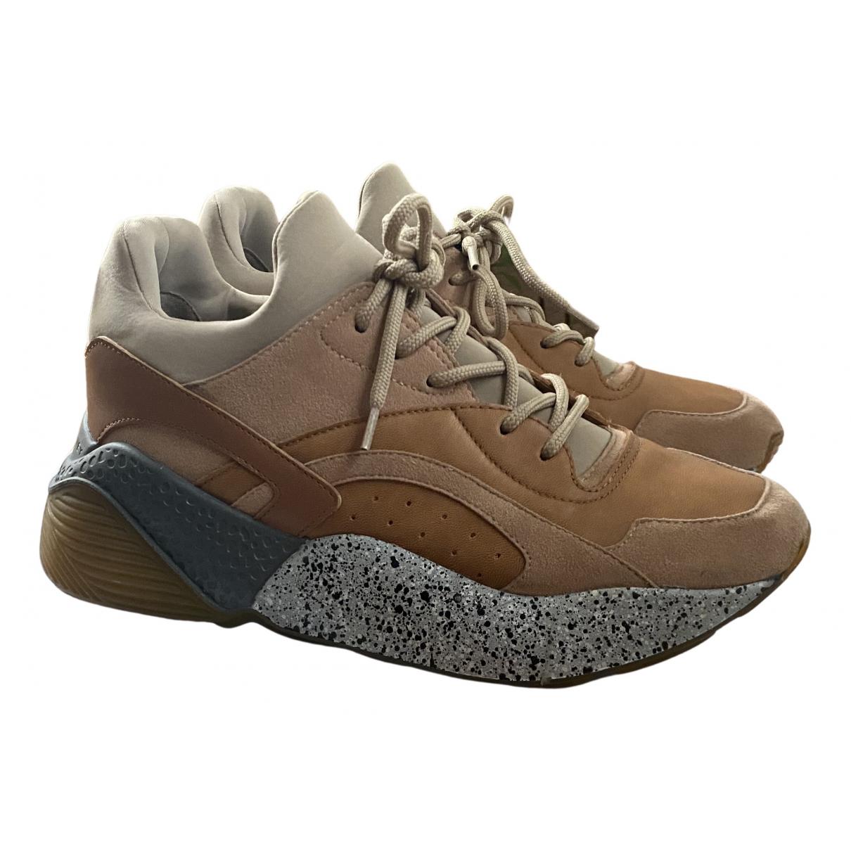Stella Mccartney Eclypse Sneakers in  Beige Leder