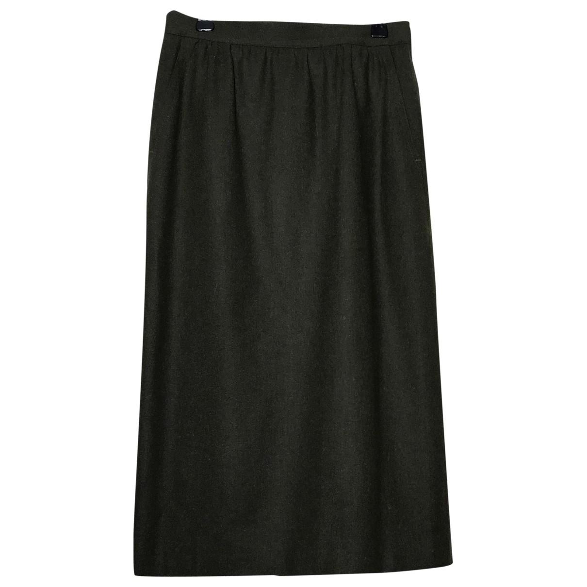 Laurel - Jupe   pour femme en laine - kaki