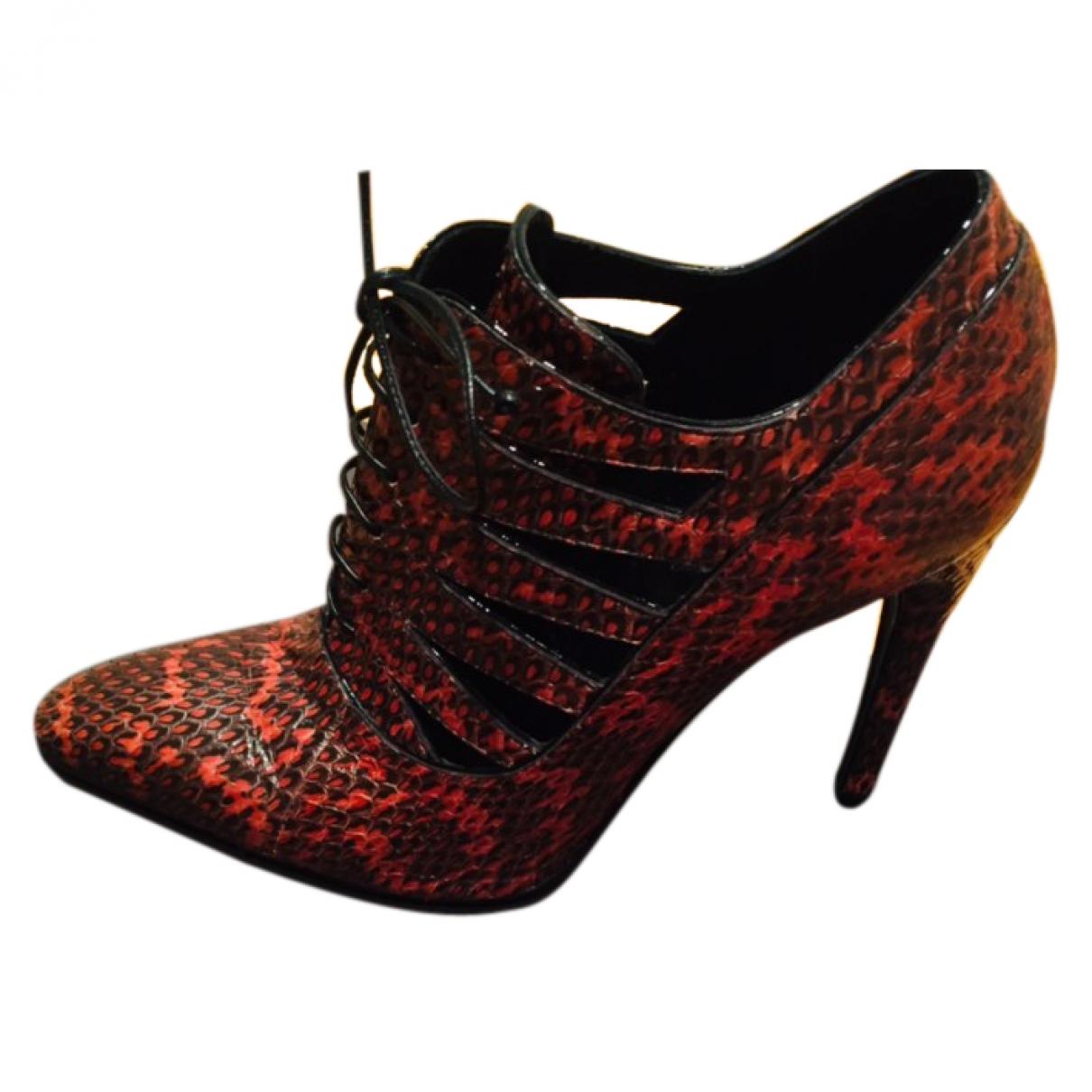 Bottega Veneta - Boots   pour femme en python - vert