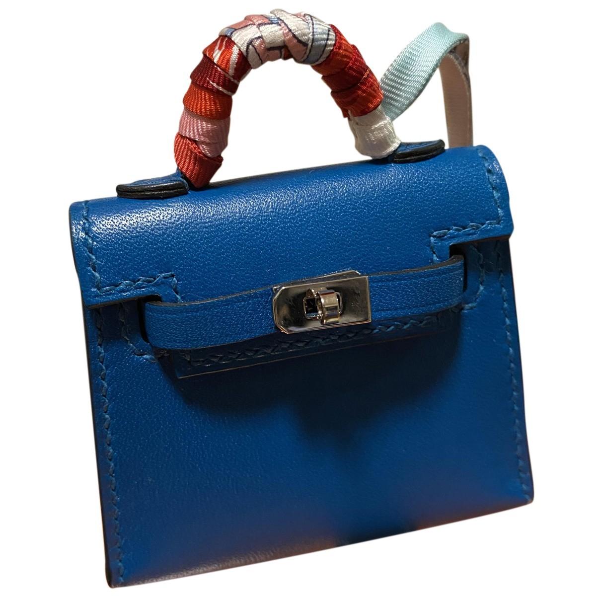 Hermes Kelly twilly charm Taschenschmuck in  Blau Leder