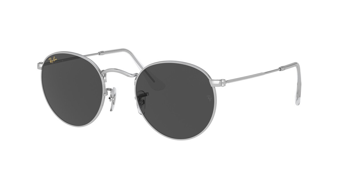 Ray-Ban RB3447 Round Metal 9198B1 Men's Sunglasses Silver Size 47