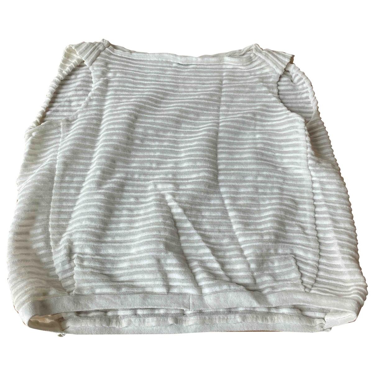 Veronique Leroy - Top   pour femme en coton - blanc