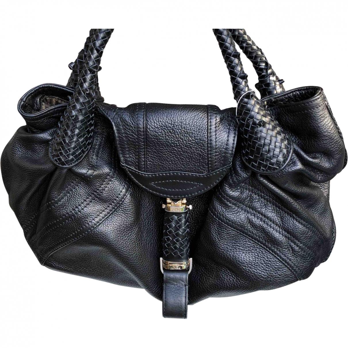Fendi Spy Black Leather handbag for Women \N