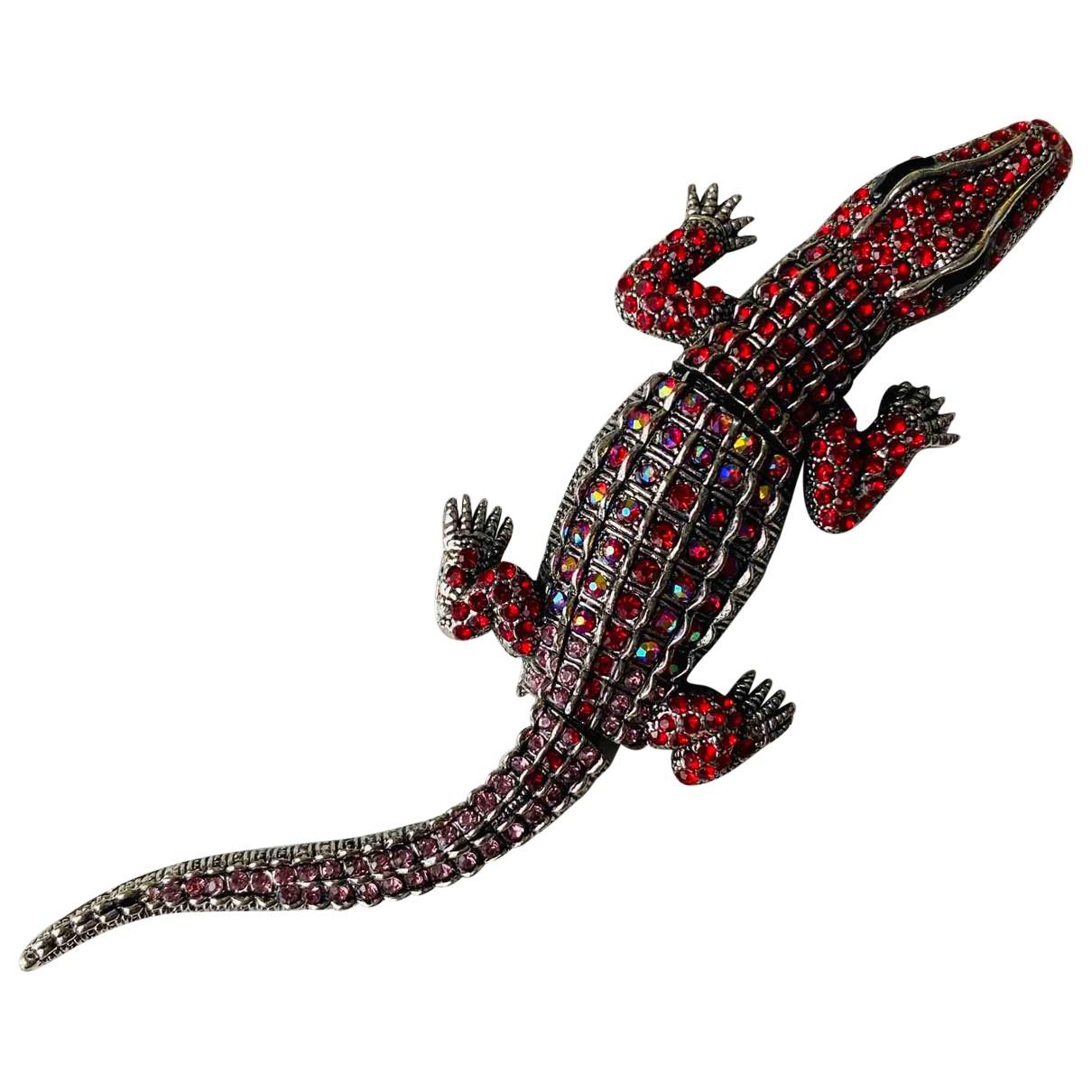 - Broche Motifs Animaliers pour femme en metal - rouge