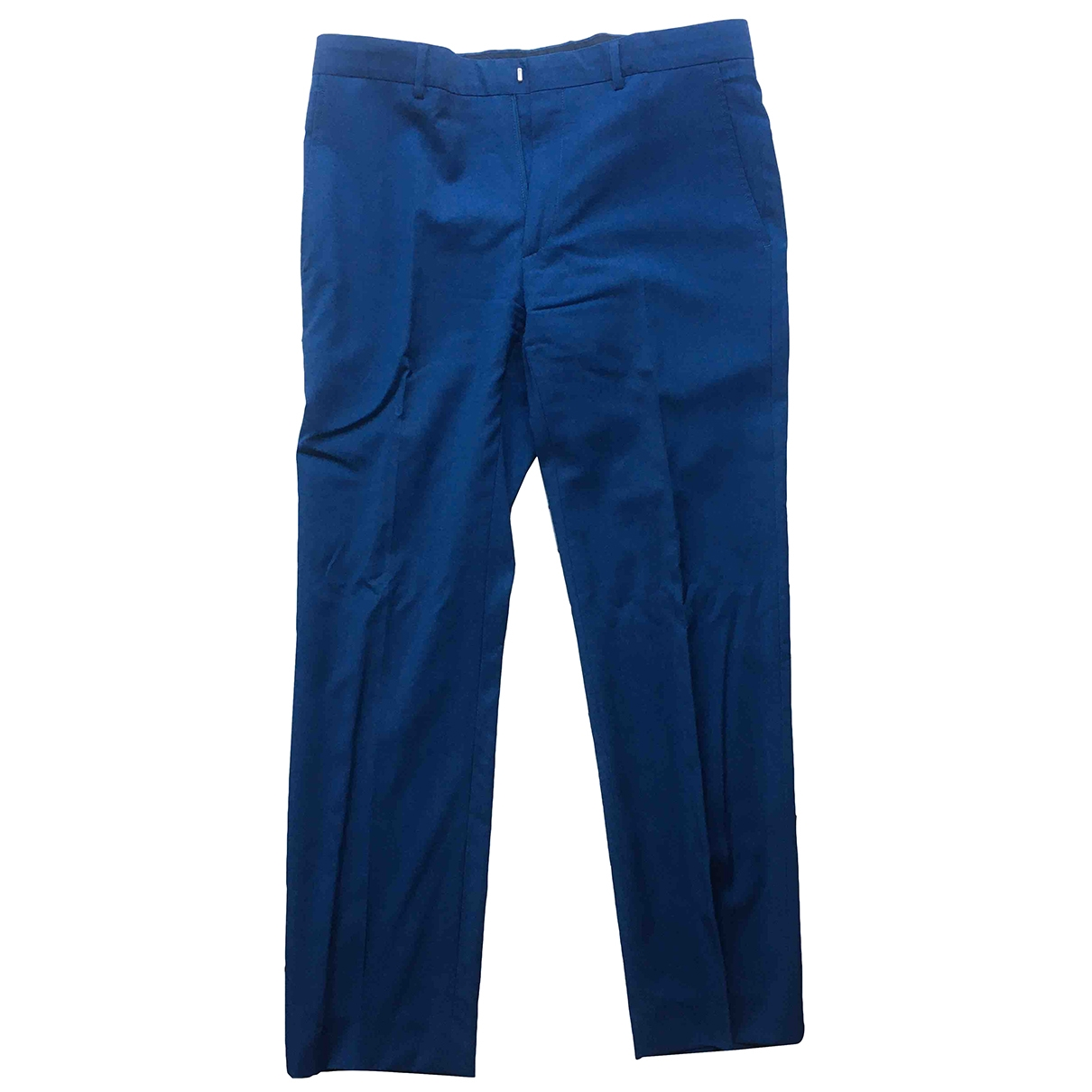 Calvin Klein Collection \N Navy Wool Trousers for Men 48 IT