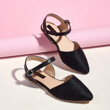 Toddler Girls Ankle Strap Flats