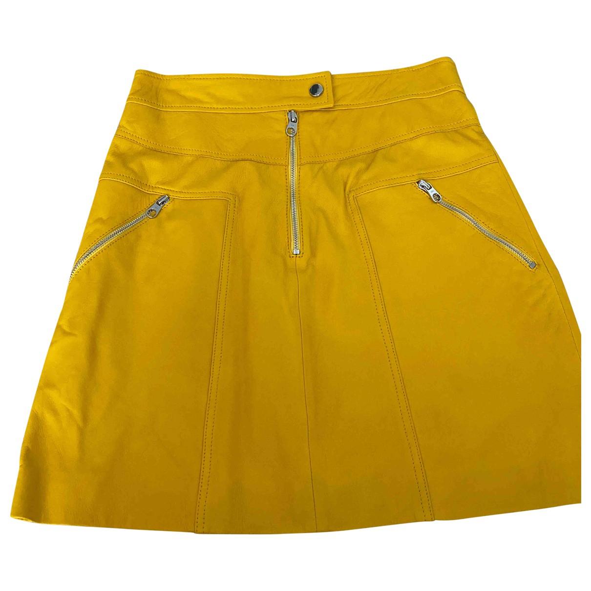 Karen Millen \N Rocke in  Gelb Leder