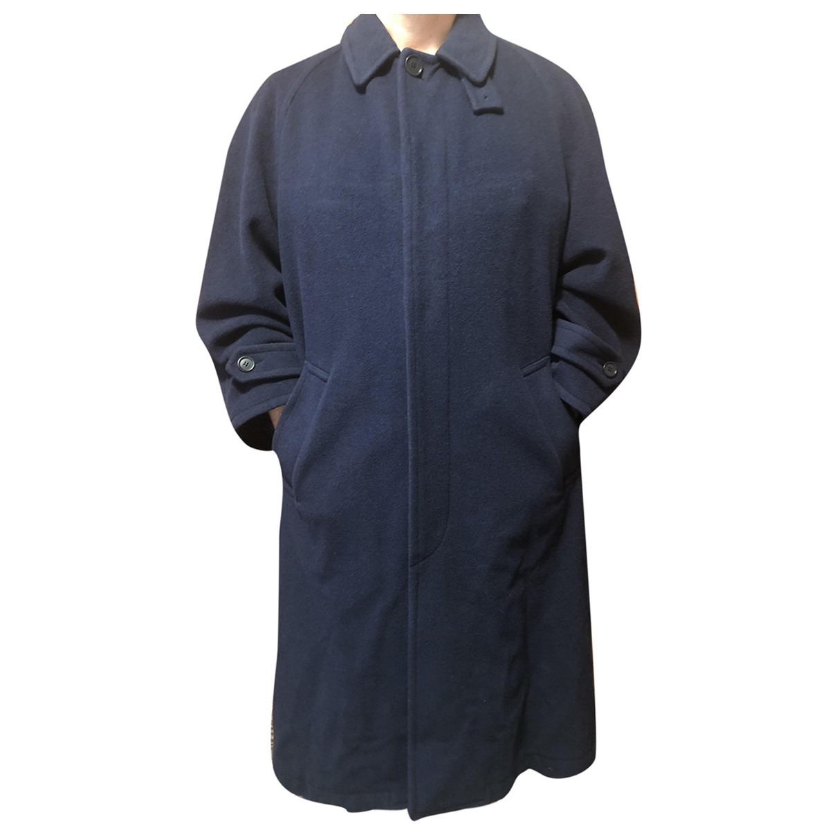 Kenzo - Manteau   pour homme en cachemire - bleu