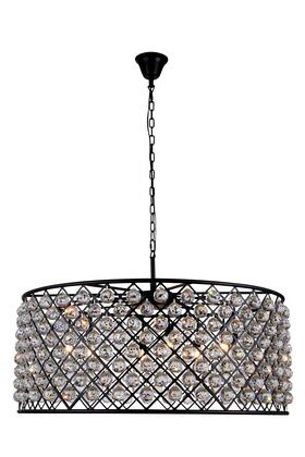 1214G43MB/RC 1214 Madison Collection Pendant Lamp D: 43.5in H: 18.25in Lt: 10 Mocha Brown Finish Royal Cut Crystal