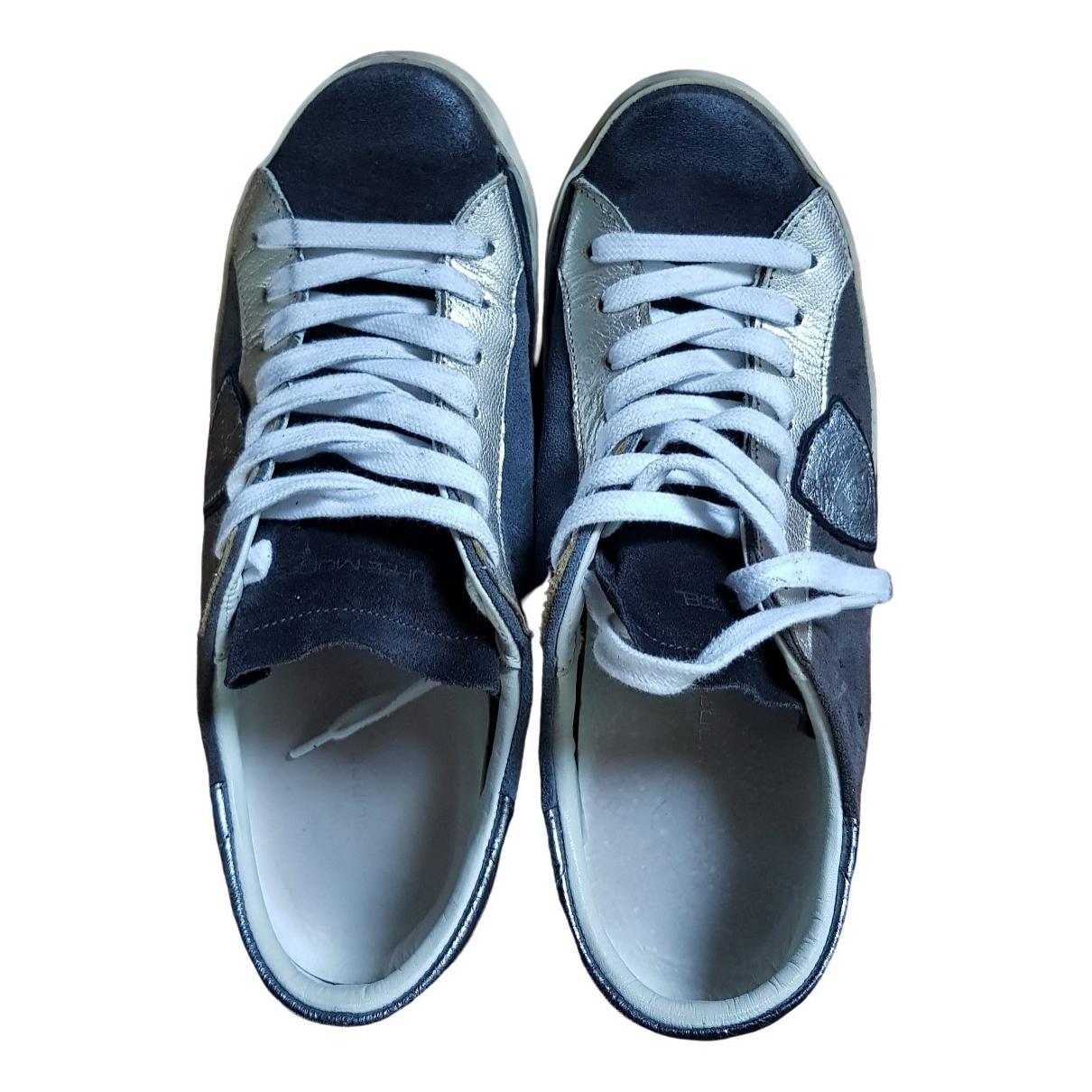 Philippe Model \N Sneakers in  Blau Leder