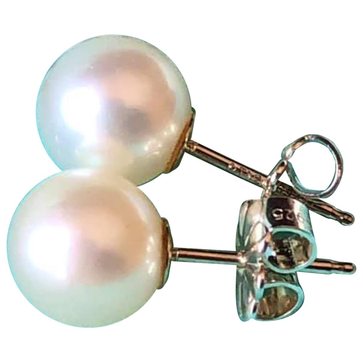 Tiffany & Co - Boucles doreilles   pour femme en perles - blanc