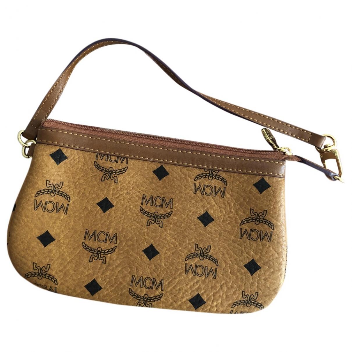 Mcm \N Brown Leather Clutch bag for Women \N
