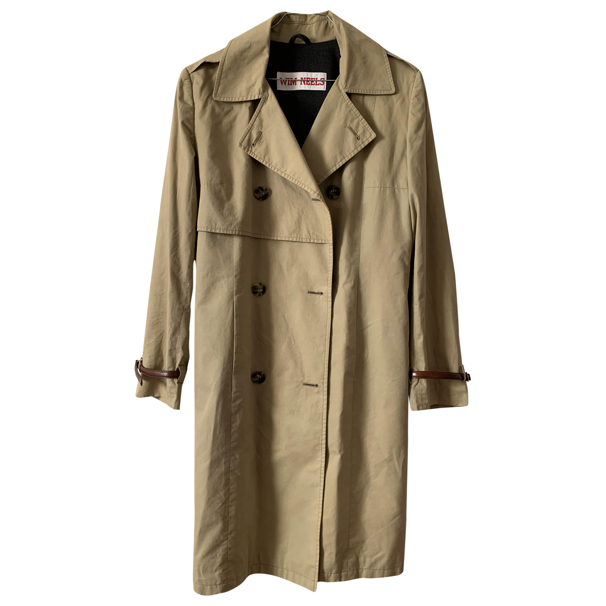 Non Signe / Unsigned \N Trench in  Beige Baumwolle