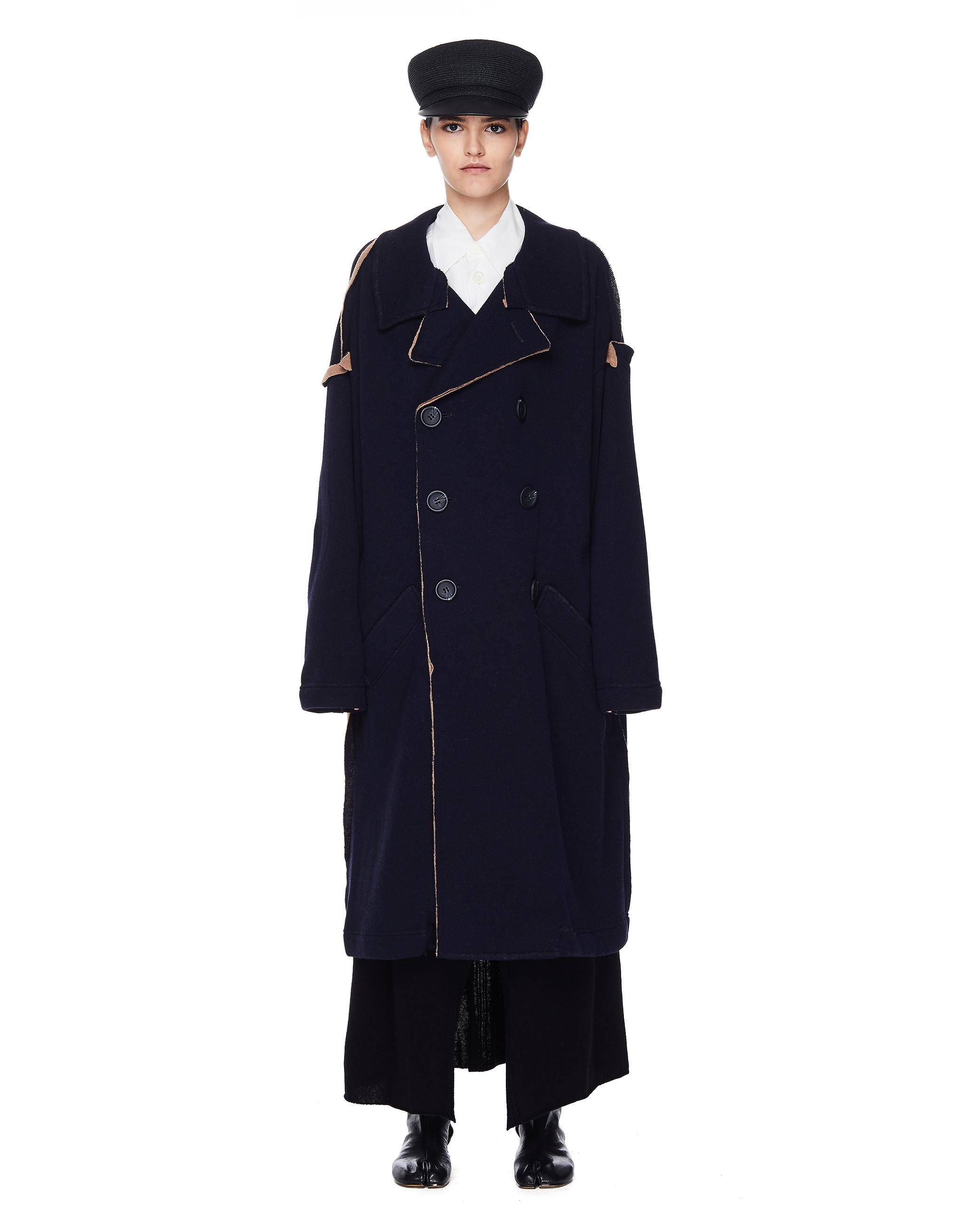 Y's Navy Long Coat