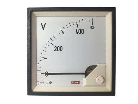 RS PRO Analogue Panel Ammeter DC, 96mm x 96mm, 1 % Moving Coil
