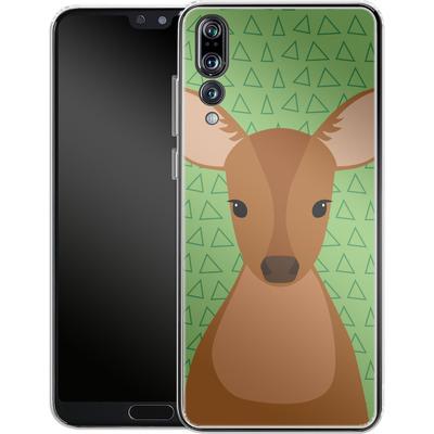 Huawei P20 Pro Silikon Handyhuelle - Deer on Green von caseable Designs