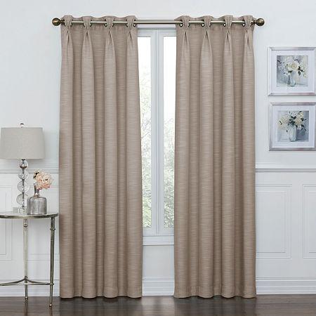 Maxx Blackout Coronado 100% Blackout Grommet-Top Single Curtain Panel, One Size , Brown