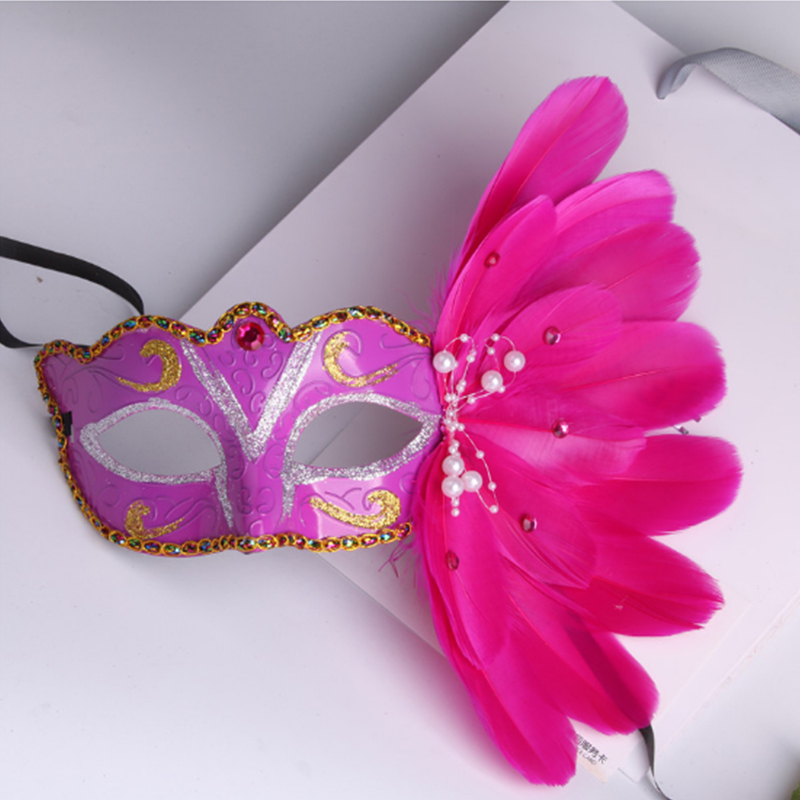 Ladies Fancy Dress Party Halloween Masquerade Feather Mask