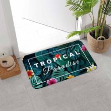 Tropical Print Floor Mat