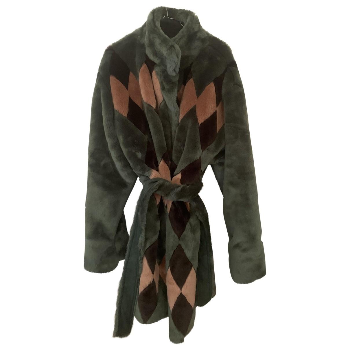 Antik Batik - Veste   pour femme en fourrure synthetique - multicolore